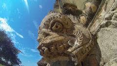 Ancient bas-relief at Bagan pagoda, Burma (Myanmar) Stock Footage