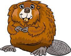 Stock Illustration of beaver animal cartoon illustration
