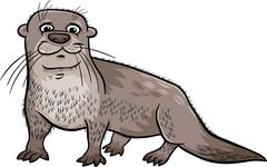 Stock Illustration of otter animal cartoon illustration