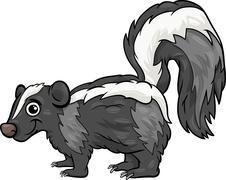 Stock Illustration of skunk animal cartoon illustration
