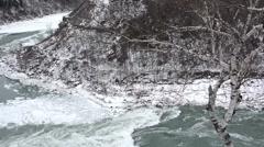 Whirlpool  NiagaraFalls Winter 09osv Stock Footage