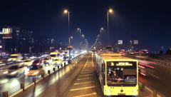 E5 Metrobus line. Short story of traffic nightmare. Stock Footage