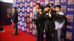 Town 312 band on red carpet on Russian Music Award channel RUTV Stock Footage