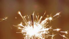 Close up of Christmas sparkler Stock Footage