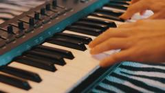 Playing piano 3 Stock Footage