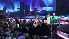 Presenter of ceremony Potap and Ksenia Sobchak Stock Footage