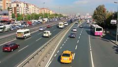 E5 traffic nightmare in the daytime Stock Footage