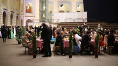 Restaurant at 11th Viennese Ball in Gostiny Dvor - stock footage