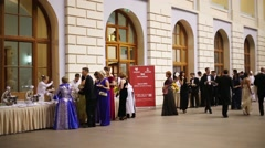 Canteen at 11th Viennese Ball in Gostiny Dvor Stock Footage