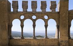 Arabian gallery in Pena palace, Sintra, Portugal Stock Photos