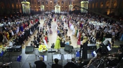 Rows of beautiful people at 11th Viennese Ball Stock Footage