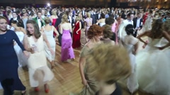 Many happy dancing people at 11th Viennese Ball Stock Footage