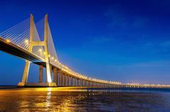 Vasco da Gama bridge, Lisbon, Portugal - stock photo