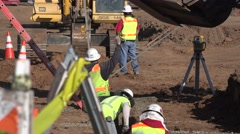 Foundation and underground work, heavy equipment Stock Footage