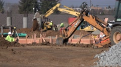 Foundation and underground work Stock Footage