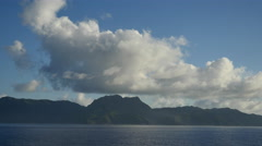 American Samoa with cloud 4k Stock Footage
