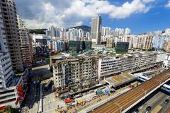 Hong Kong Day, Kwun Tong distract - stock photo