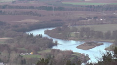 Elevated view of River Tay Perth Scotland Stock Footage