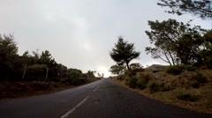 Timelapse driving to Pico do Arieiro mountain in Madeira Stock Footage