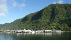 American Samoa fishing docks 4k Stock Footage