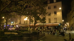 Paris, outdoor streets tables Stock Footage
