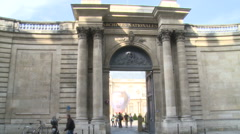 Paris, Archives Nationales view - stock footage