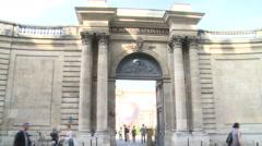 Paris, Archives Nationales Door Stock Footage