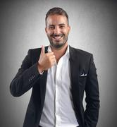Businessman promotion - stock photo
