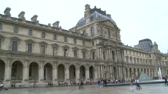 Paris, the Louvre Museum Stock Footage