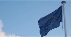 Flag of European Union 4k Stock Footage