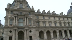 Paris, the Louvre Museum direct view Stock Footage