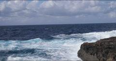 Sea and Rocks Landscape - coast gozo 4k Stock Footage