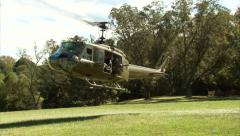 Huey Helicopter Take Off Stock Footage