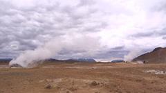 Iceland, Namaskard, Geyser Field WS 1 Stock Footage