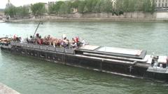 Paris, trip in Seine River Stock Footage