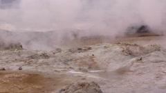 Iceland, Namaskard, Geyser, Mud Stock Footage