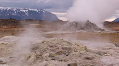 Iceland, Namaskard, Geyser Steam 2 Stock Footage