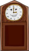 Grinning Clock with Roman Numbers Stock Illustration