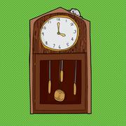 Hickory Dickory Dock Clock Stock Illustration