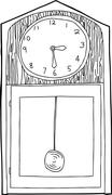 Grandfather Clock Outline Stock Illustration