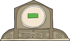 Mantle Clock with Blank LCD Face Stock Illustration