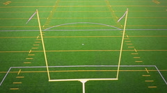 Detail of Outdoor American Football Field Goal Post - stock footage