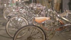 Custom chrome bycicles - stock footage
