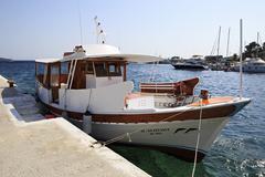 Pleasure boat in the Aegean Sea Stock Photos