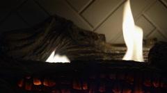 Fireplace Loop Still Stock Footage
