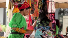 Panama City, Panama - 20 January 2015 - Tourist Market In Casco Antiguo Stock Footage