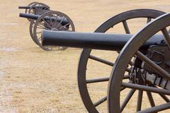 Bull Run Three Canons in Field Stock Photos