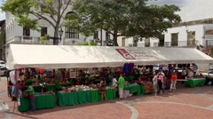 Panama City, Panama - 20 January 2015 - Tourists And Souvenirs In Casco Antiguo Stock Footage