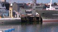Iceland, Reykjavik, Oceanographic Boats Stock Footage
