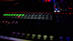 Digital Mixer live music exceptional sound quality  Stock Footage